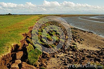 Erosion of shoreline, Solway Coast