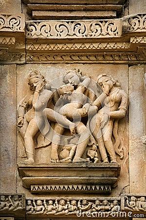 Erotic Carvings - Khajuraho - India