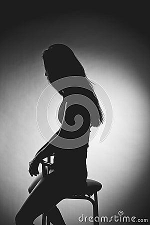 Erotic silhouette