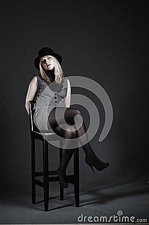 Erotic woman posing