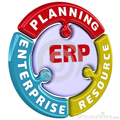 Free ERP. Enterprise Resource Planning. The Check Mark In The Form Of A Puzzle Stock Image - 81245671