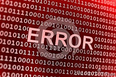 Erro do código binário