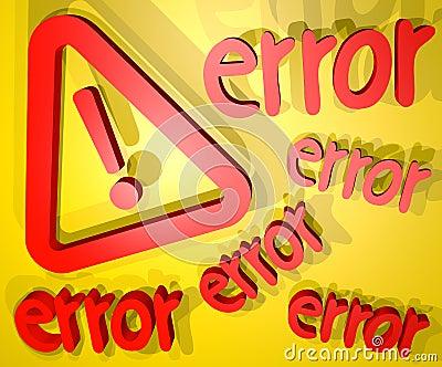 Error cover