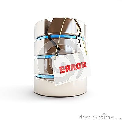 Error de la base de datos