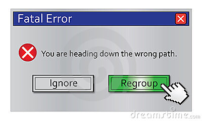Error Message Regroup