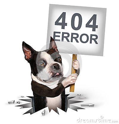 404 Error Stock Photo