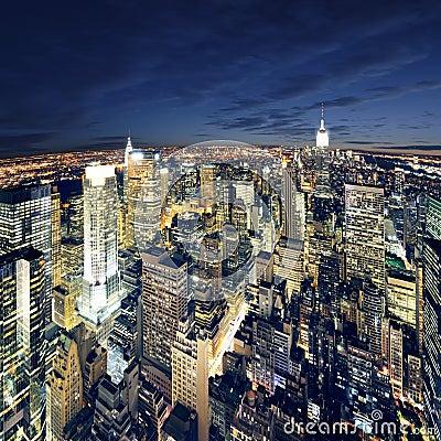 Erstaunliche Ansicht nach New York Manhattan - New York City