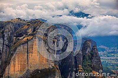 Erstaunliche Landschaft bei Meteora