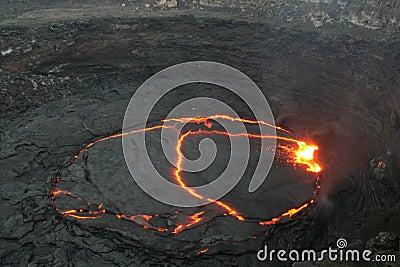 The Erta Ale lava lake