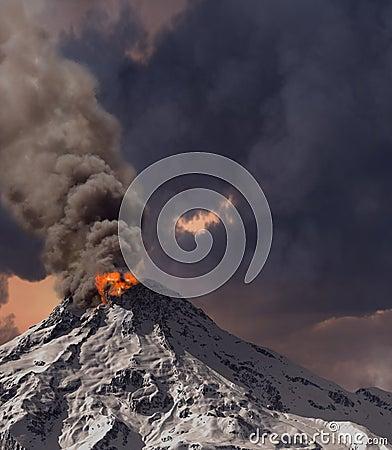 Free Erupting Of Volcano Stock Image - 13878541