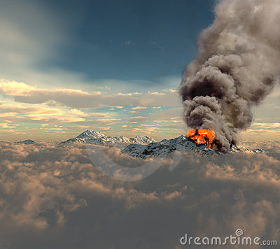 Free Erupting Of Volcano Stock Photo - 14354830