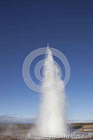 Erupting Strokkur Geyser Iceland