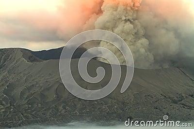 Eruption of Bromo Vulcano