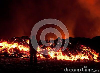 eruption in Fimmvörðuháls