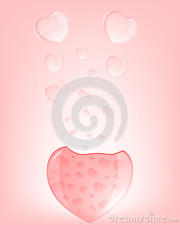 The eruption of hearts. Stock Photo