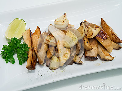 Eryngii mushrooms with butter