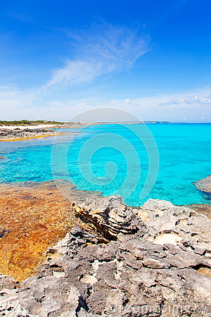 Es Calo de San Agusti in Formentera Balearic