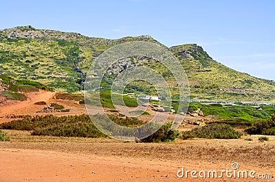 Es Pla Vermell and Binimela coast in Menorca