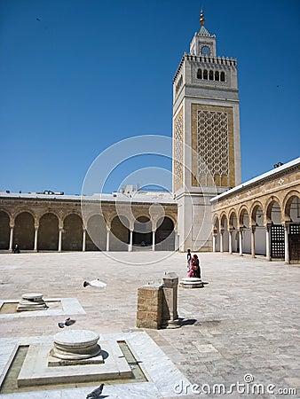 Es Zitouna Mosque. Tunis. Tunisia Editorial Photography