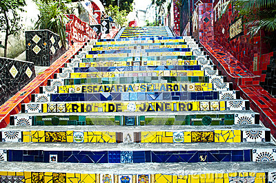 Escadaria Selaron - stairway Selaron, Rio