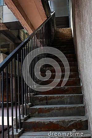 Escadas da construção velha