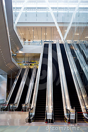 Escalator at Changi Airport