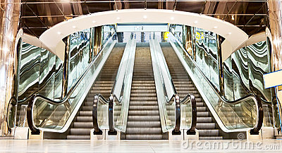 Escalator in the interior