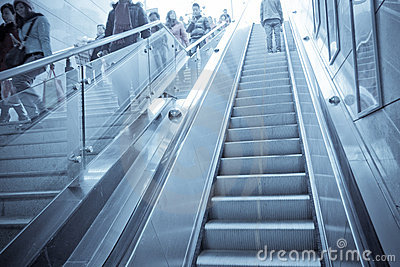 escalator and staircase Editorial Image