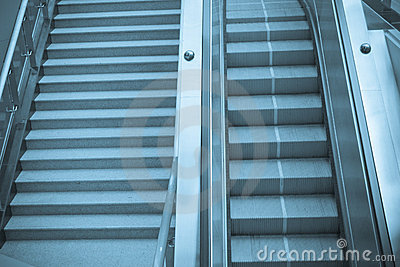 escalator and staircase