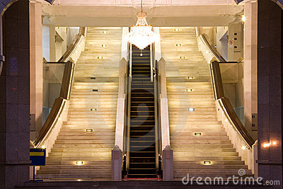 Escalator and stairways