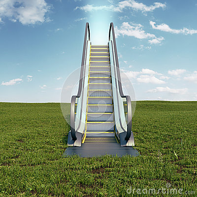 Free Escalator To The Sky Royalty Free Stock Image - 40498546