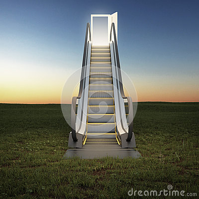 Free Escalator To The Sky In Night Field Stock Images - 40498574