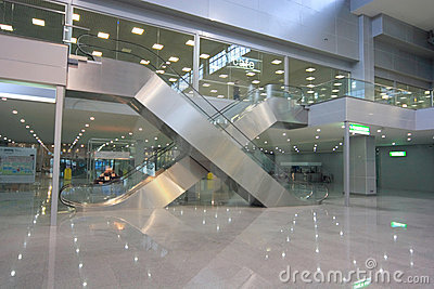 Escalators in business centre