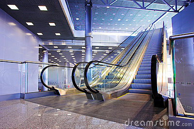 Escalators in exhibition