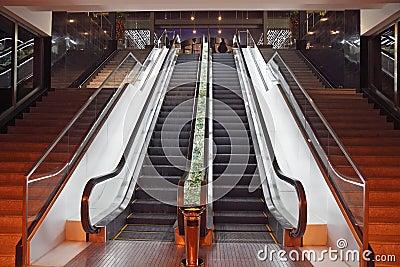 Escalators in a hotel