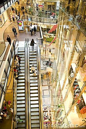 Escalators in the mall. Editorial Image