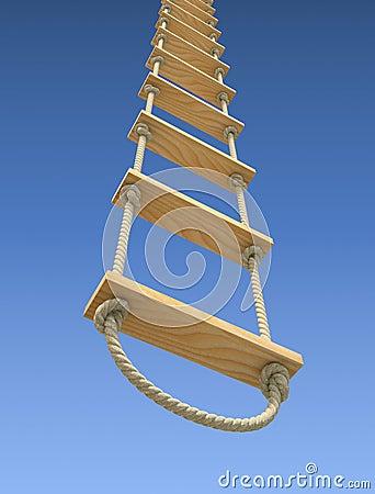 Escalera de cuerda de madera fotos de archivo imagen - Escalera de cuerda ...