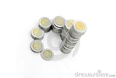 Escalera de la abundancia de las monedas
