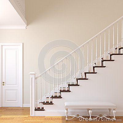 Escalera en la casa moderna imagen de archivo imagen - Escaleras de casas modernas ...