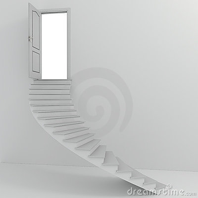 Escaleras blancas 3d que suben fotograf a de archivo libre - Escaleras blancas ...