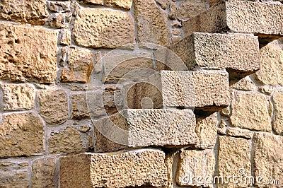 Escaleras en la pared de piedra foto de archivo imagen - Escaleras de piedra ...