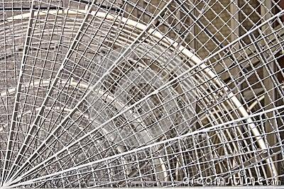 Escaleras metálicas redondas