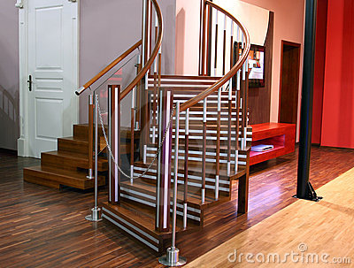 Escaleras modernas para la sala de estar imagenes de for Escaleras de sala