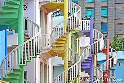 Escalier spiral color image stock image 13524431 for Escalier spirale