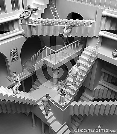 Poème à énigme, mystère à percer... Escaliers-d-escher-thumb6306392