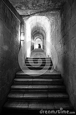 escaliers en noir et blanc photographie stock libre de droits image 16631977. Black Bedroom Furniture Sets. Home Design Ideas
