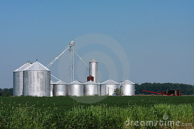 Escaninhos de armazenamento da exploração agrícola