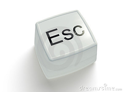 Escape button on a white background