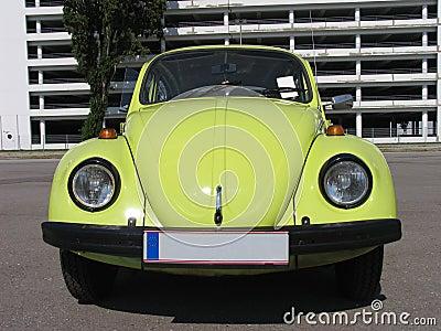 Escarabajo, Volkswagen, diseño clásico, amarillo