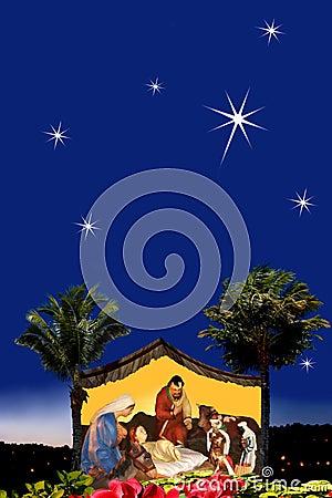 Escena de la natividad de la Navidad.